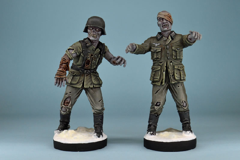 GZ04-WWII GERMAN ZOMBIE PLASTICS SINGLE SPRUE