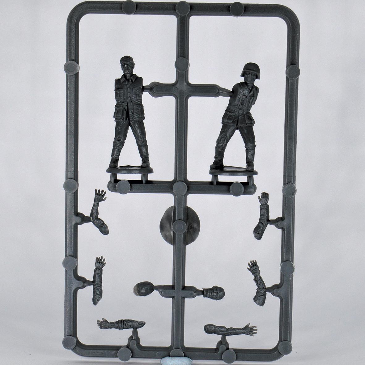 GZ04-WWII GERMAN ZOMBIE PLASTICS SINGLE SPRUE